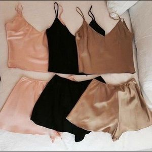 BRAND NEW Cropped Cami Tank and Short Set